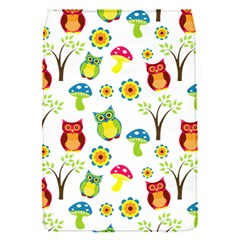 Cute Owl Wallpaper Pattern Flap Covers (S)