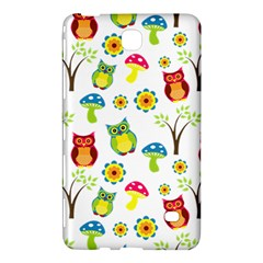 Cute Owl Wallpaper Pattern Samsung Galaxy Tab 4 (7 ) Hardshell Case