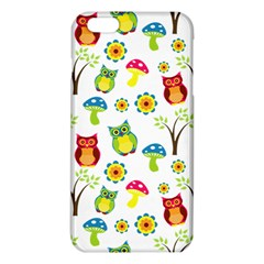 Cute Owl Wallpaper Pattern Iphone 6 Plus/6s Plus Tpu Case