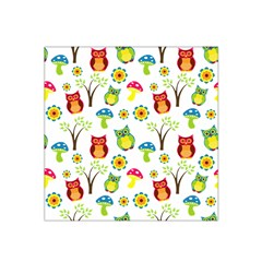 Cute Owl Wallpaper Pattern Satin Bandana Scarf