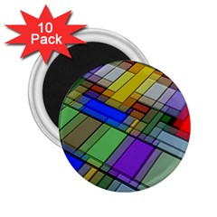 Abstract Background Pattern 2.25  Magnets (10 pack)