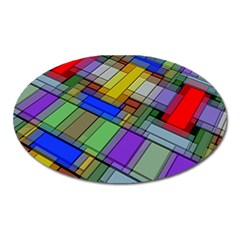 Abstract Background Pattern Oval Magnet