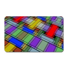 Abstract Background Pattern Magnet (Rectangular)