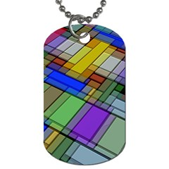 Abstract Background Pattern Dog Tag (One Side)