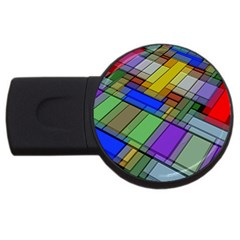 Abstract Background Pattern USB Flash Drive Round (1 GB)
