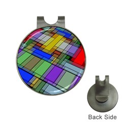 Abstract Background Pattern Hat Clips with Golf Markers