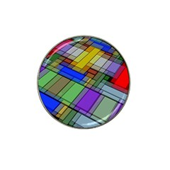 Abstract Background Pattern Hat Clip Ball Marker