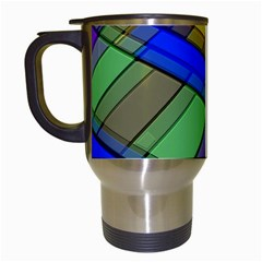 Abstract Background Pattern Travel Mugs (White)