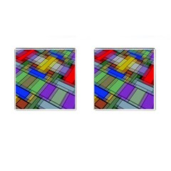 Abstract Background Pattern Cufflinks (Square)