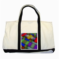 Abstract Background Pattern Two Tone Tote Bag