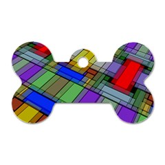 Abstract Background Pattern Dog Tag Bone (One Side)