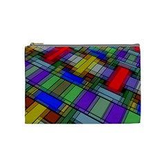 Abstract Background Pattern Cosmetic Bag (Medium)