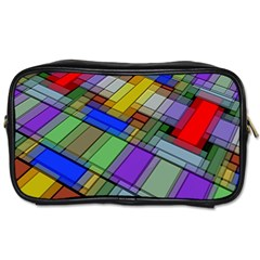 Abstract Background Pattern Toiletries Bags