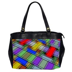 Abstract Background Pattern Office Handbags (2 Sides)