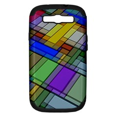 Abstract Background Pattern Samsung Galaxy S III Hardshell Case (PC+Silicone)
