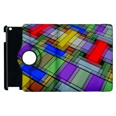 Abstract Background Pattern Apple iPad 2 Flip 360 Case