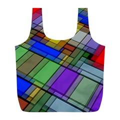 Abstract Background Pattern Full Print Recycle Bags (L)
