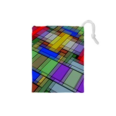 Abstract Background Pattern Drawstring Pouches (Small)