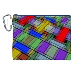 Abstract Background Pattern Canvas Cosmetic Bag (XXL)
