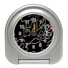 Abstract Glare Visual Art Travel Alarm Clocks