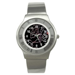 Abstract Glare Visual Art Stainless Steel Watch