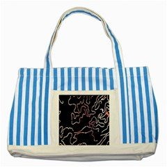 Abstract Glare Visual Art Striped Blue Tote Bag