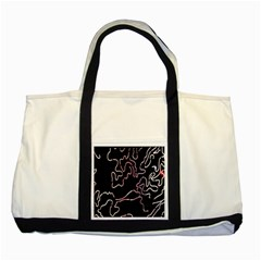 Abstract Glare Visual Art Two Tone Tote Bag