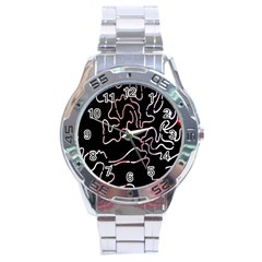 Abstract Glare Visual Art Stainless Steel Analogue Watch