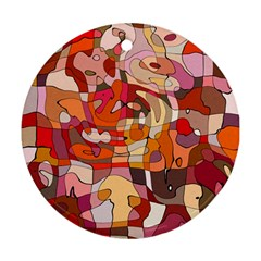Abstract Abstraction Pattern Modern Ornament (Round)