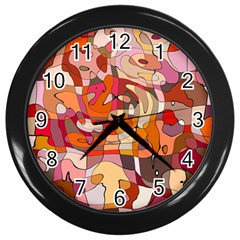 Abstract Abstraction Pattern Modern Wall Clocks (Black)