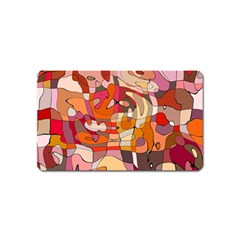 Abstract Abstraction Pattern Modern Magnet (Name Card)