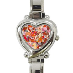 Abstract Abstraction Pattern Modern Heart Italian Charm Watch