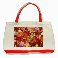 Abstract Abstraction Pattern Modern Classic Tote Bag (Red)