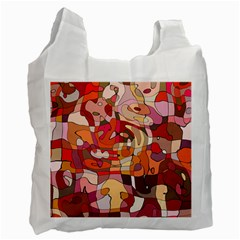 Abstract Abstraction Pattern Modern Recycle Bag (One Side)