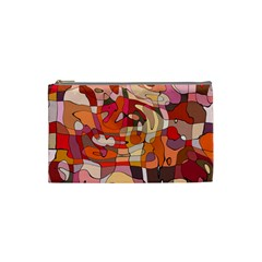 Abstract Abstraction Pattern Modern Cosmetic Bag (Small)