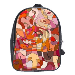 Abstract Abstraction Pattern Modern School Bags(Large)