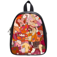 Abstract Abstraction Pattern Modern School Bags (Small)