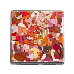 Abstract Abstraction Pattern Modern Memory Card Reader (Square)