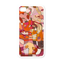 Abstract Abstraction Pattern Modern Apple iPhone 4 Case (White)