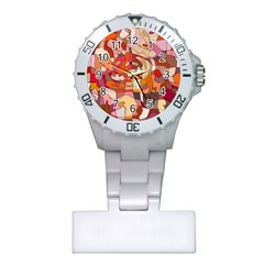 Abstract Abstraction Pattern Modern Plastic Nurses Watch