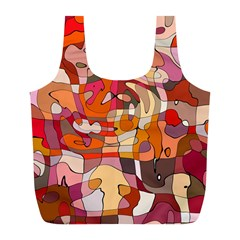 Abstract Abstraction Pattern Modern Full Print Recycle Bags (L)