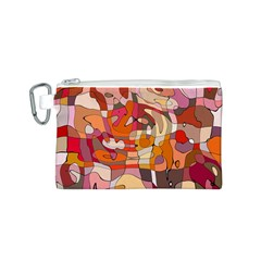 Abstract Abstraction Pattern Modern Canvas Cosmetic Bag (S)
