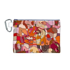 Abstract Abstraction Pattern Modern Canvas Cosmetic Bag (M)