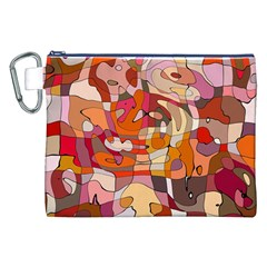 Abstract Abstraction Pattern Modern Canvas Cosmetic Bag (XXL)