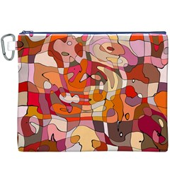 Abstract Abstraction Pattern Modern Canvas Cosmetic Bag (XXXL)