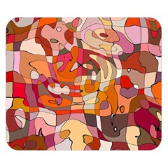 Abstract Abstraction Pattern Modern Double Sided Flano Blanket (Small)