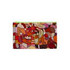 Abstract Abstraction Pattern Modern Cosmetic Bag (XS)