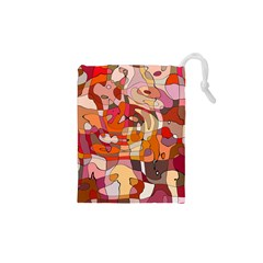 Abstract Abstraction Pattern Modern Drawstring Pouches (XS)