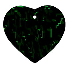 Abstract Art Background Green Ornament (Heart)