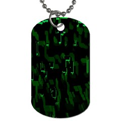 Abstract Art Background Green Dog Tag (One Side)